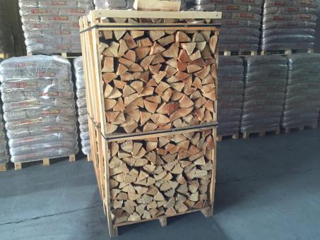 Kaminholz Buche in ca. 3 SRM Box 30-33cm Scheite
